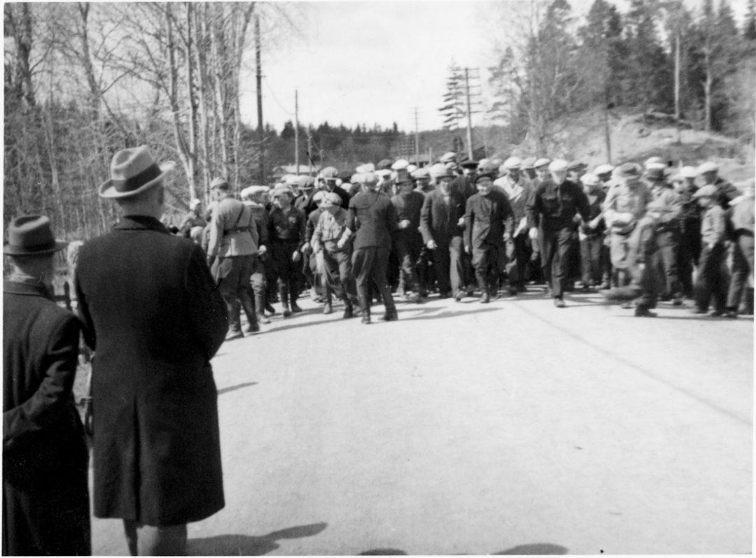 Marssikilpailuun lähtö v. 1941